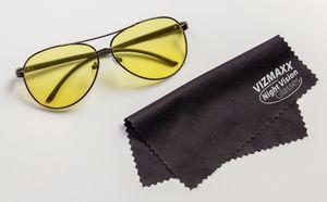 Vizmaxx® Autofahrerbrille Tag- und Nachtsicht-Brille mit UV Schutz Kontrastverstärkende Brille, Blendschutz Sonnenbrille für Auto Fahren, Angeln, Golf - Aus der TV Werbung