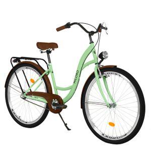 Milord Komfort Stadtfahrrad Fahrrad City Damenfahrrad, 26 Zoll, Mintze, 3-Gang