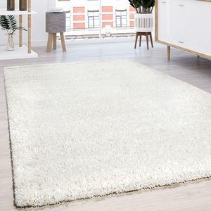 Hochflor Shaggy Langflor Teppich versch. Farben u. Grössen TOP PREIS NEU*OVP, Grösse:80x150 cm, Farbe:Ivory (Creme)