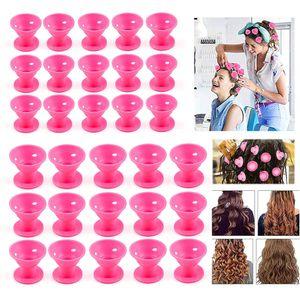 Lockenwickler über Nacht - Haar Locken Curler ohne Hitze machen - 30 Stück (Rosa)