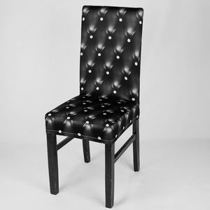 4er-Set Universal Stuhlhussen Stretch Stuhlbezug Stuhlhusse Stuhlüberzug Farbe Schwarz