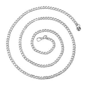 Kettengürtel Damen Körperkette Bauchgürtel Bauchkette Legierung Taille Kette für Frauen, 110cm