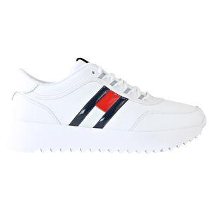 Tommy Hilfiger Plateau Sneaker Damen Weiß (EN0EN00784 YBS) Größe: 39