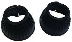 Springglocken Gummi QHP schwarz Klettverschluss 1 Paar ARBO-INOX® Größe - XL