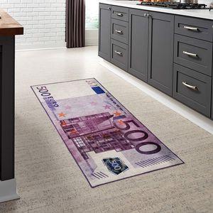 Euro 500 Bill Teppich Waschbare Teppich Küche Läufer Küche Teppich Läufer Flur Grösse: 60x120 cm