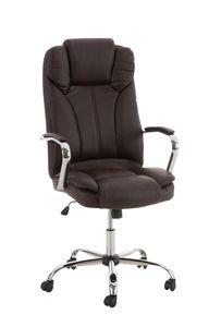 Bürostuhl CP519, Chefsessel Drehstuhl, US-Version, 150kg belastbar, Kunstleder  braun