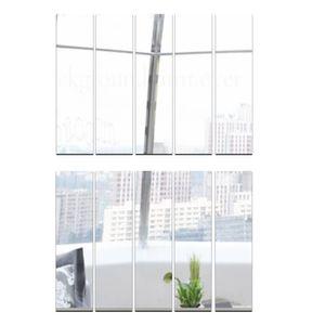 10 Stück Spiegelfliesen Spiegelkachel Fliesenspiegel Spiegel je 5x30cm Wanddekoration Wandspiegel