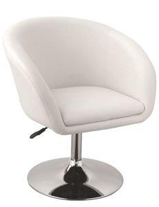 Duhome Clubsessel Lounge Sessel in weiß Sessel Cocktailsessel Kunstleder