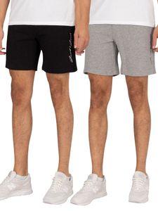 Jack & Jones Herren 2er Pack Ombre Sweat Shorts, Mehrfarbig S