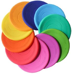 Frisbee Flying Disc Nicht rutschen Soft Silikon Spielzeug Eltern Kind Zeit Outdoor Sport 2 Stück, Zufällige Farbe