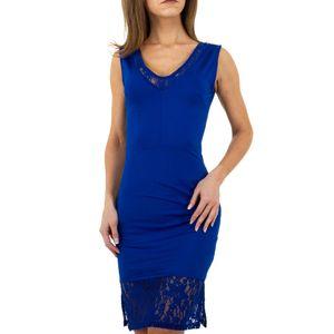 Ital-Design Damen Kleider Cocktail- & Partykleider Blau Gr.s