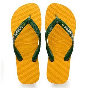 Havaianas H. BRASIL LOGO Unisex Erwachsene Sandale Zehentrenner Badelatsche 4110850 gelb, Schuhe:45/46 EU