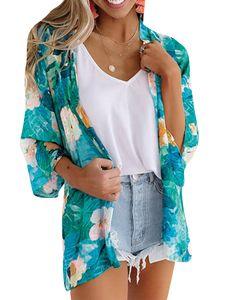 Super Preis-Frauen-Cardigan&Badeanzug&Schal-Anti Sunburn&Strand,Farbe: Navy Blau,Größe:S