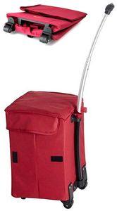 Trolley Einkaufstrolley Mehrzweck Einkaufsroller faltbar Smart Cart Camping Rot