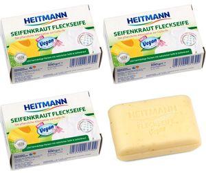 GKA 3 Stück Heitmann Seifenkraut Fleckenseife Citrus vegan Gallseife Fleckseife Fleckenentfernung Seife Flecken löst Blut Öl Fett Makeup