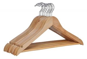 10 Stück Kleiderbügel Holz Holzkleiderbügel Garderobenbügel Holzbügel