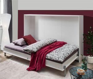 Schrankbett Funktionsbett Bett Juist 120x200cm weiß Modern