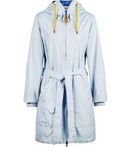 Finside Karelia Wind-Jacke lang geschnittene Damen Outdoor-Jacke Hellblau, Größe:34