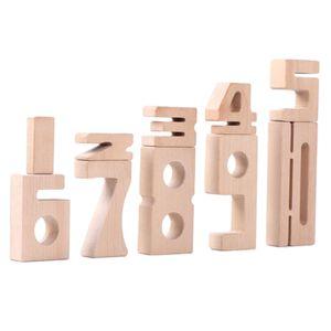 Stapelbar Montessori Bausteine Mathematik Nummer Block Spielzeug Pflegen Hand-auge Zusammenarbeit