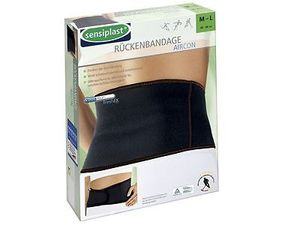 SENSIPLAST Knie Rücken Hand Fuß Bandage Aircon Coolmax (Polyesterfasern) Sport Bandagen stütze  Rückenbandage XS–M (ca. 66–82 cm)