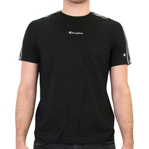 Champion T-Shirt mit Streifen Herren Schwarz (214229 KK001) Größe: L