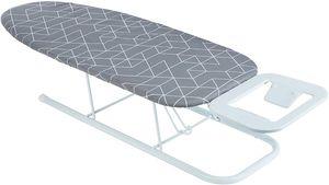 ONVAYA Tischbügelbrett   Mini Bügelbrett   Bügeltisch   Kleines, platzsparendes Bügelbrett   grau