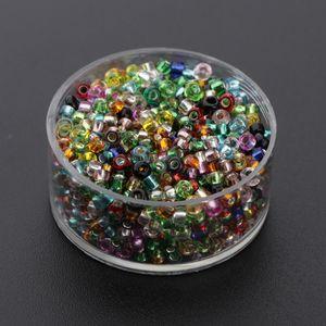 1000 pcs Glasperlen Bunte Perlen Glas Rund Perlen für Schmuckmachen und Handwerk