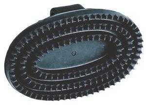 Gummistriegel oval, schwarz