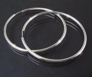 Creolen Silber 925 Niklarson Ohrringe 6cm Rohrcreolen 14125-60