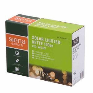 SIENA GARDEN 681953 Solar-Lichterkette 100er LED weiß, Länge: 9,9m