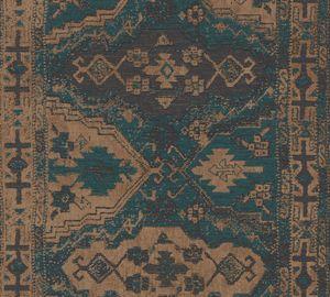 Livingwalls orientalische Tapete Metropolitan Stories Said Marrakesch Vliestapete blau braun 10,05 m x 0,53 m