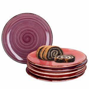 Mambocat Lila Baita 6er Kuchenteller Set I 6 Personen I 6 Violett-Töne Dessert