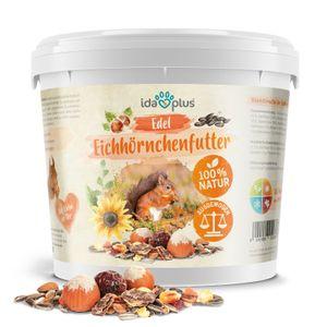 Ida Plus Edel Eichhörnchenfutter - artgerechtes Eichhörnchen Futter - perfekt ausgewogen - Ganzjahres Futter für Eichhörnchen im praktischen Eimer - auch für Streifenhörnchen - 1 kg