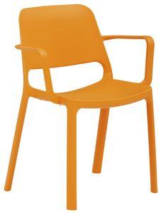 Stapelstuhl myNUKE mit Armlehnen Orange