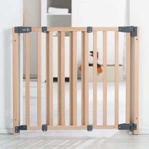 """Türschutzgitter """"Safety Up"""", barrierefreies Holz-Schutzgitter mit Ampelfunktion für Tür und Treppe"""