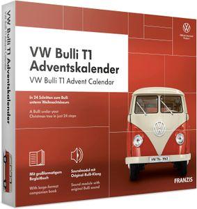 Franzis adventskalender VolkswagenBulli T1 rot 24-teilig