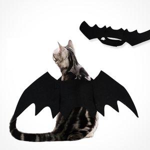 Halloween Haustier Fledermaus Kostüm Katze Fledermaus Kostüm für Halloween Haustier Kostüm für Katzen Kleine Hunde[Schwarz]