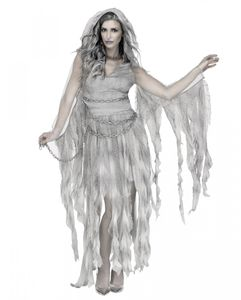 Geisterfee Halloween Kostümkleid mit Kapuze für Damen Größe: S/M