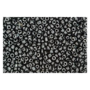 Rocailles schwarz opak 2,5mm Perlen - 500g Großpackung (ca. 16.000 Stück)