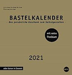 Bastelkalender 2021 gold, mittel