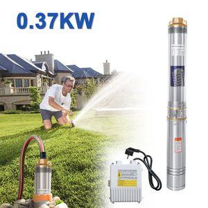 Hengda 0.37kW/0.5hp Tiefbrunnenpumpe bis 4.000 l/h F?rdermenge Automatic Brunnenpumpe Sandvertr?glich Tauchdruckpumpe 3.4 bar max