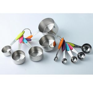 5 x Messlöffel Set mit 5 x Messbecher Kaffeelöffel Teelöffel Küche Backen Werkzeug