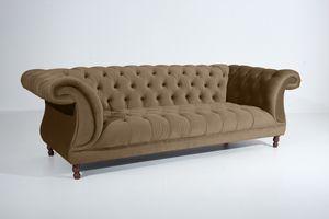 Max Winzer Ivette Sofa 3-Sitzer - Farbe: sahara - Maße: 253 cm x 100 cm x 80 cm; 2994-3880-2044253-F07