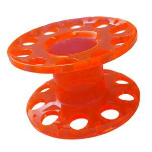 Plastic Compact Scuba Diving Finger Führungsleine Aufrollspule - Gelb Orange wie beschrieben