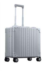 Aleon 17 Zoll Luxus Businesskoffer mit Rädern Platinum 1837-PL Koffer mit 2 Rollen Koffer