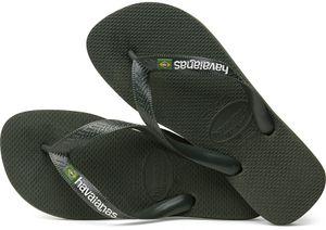 havaianas Brasil Logo Flips green olive Schuhgröße EU 43-44   Brazilian 41-42