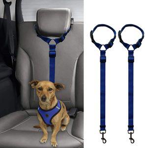 2 Stück Hunde Sicherheitsgurt, Einstellbar Hundesicherheitsgurt Sicherheitsgeschirr für Auto für alle Hunderassen Katzen& Autotypen