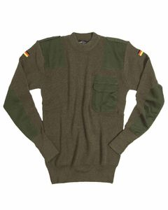 Mil-Tec BW PULLOVER 80/WOLLE 20/POLYACRYL OLIV 52