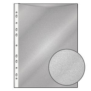 100 Prospekthüllen / DIN A4 / genarbt