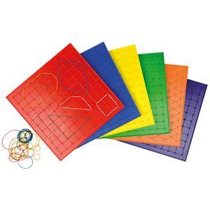 EDUPLAY Geo Brett 6er Set 23 cm, mehrfarbig (1 Set)